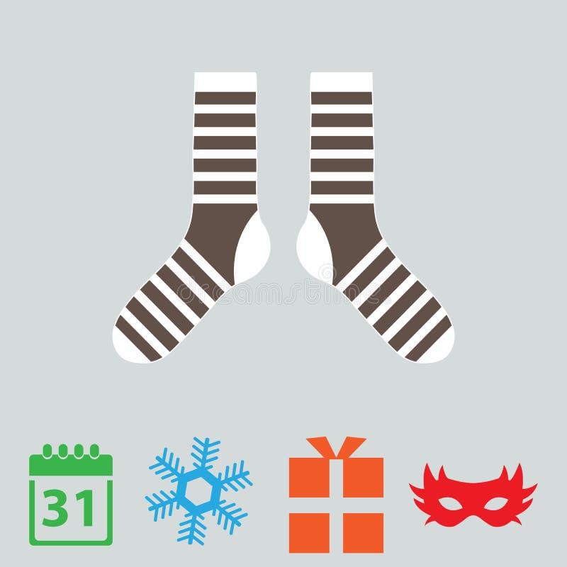 icone del buon anno, icona di colore illustrazione di stock