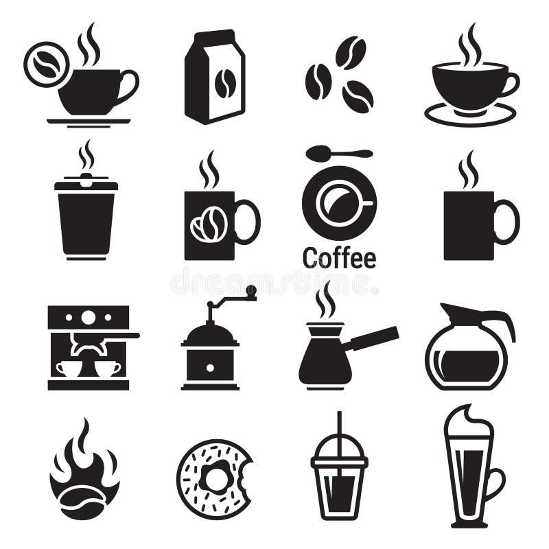 Icone del caffè impostate illustrazione di stock