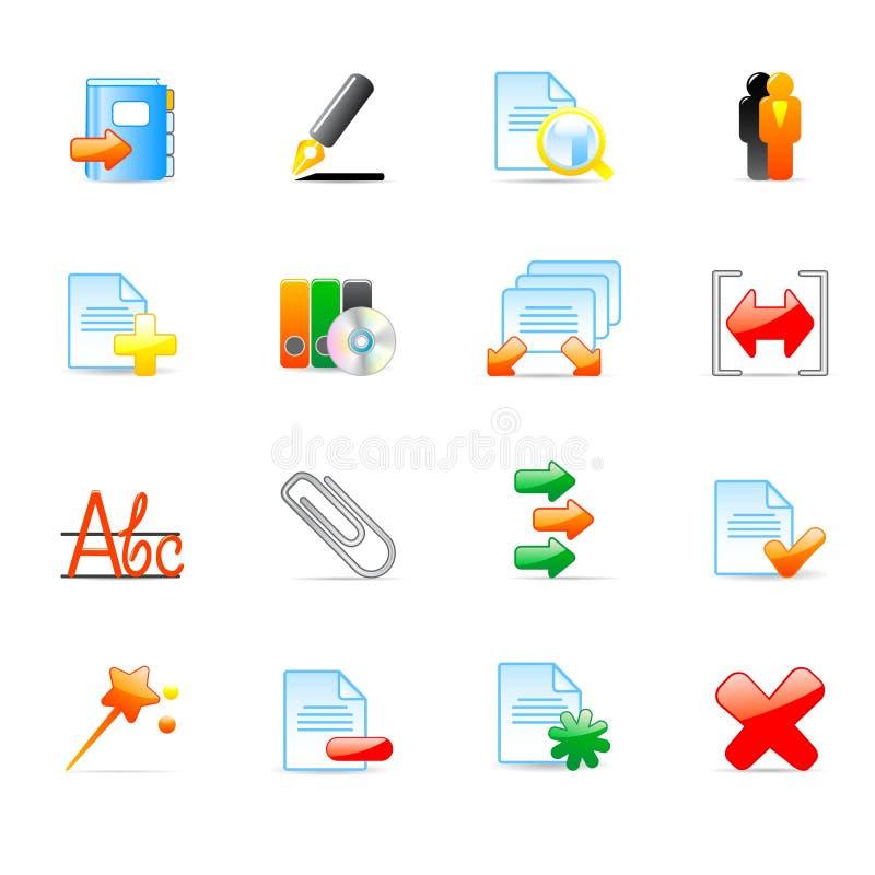 Icone del calcolatore illustrazione di stock