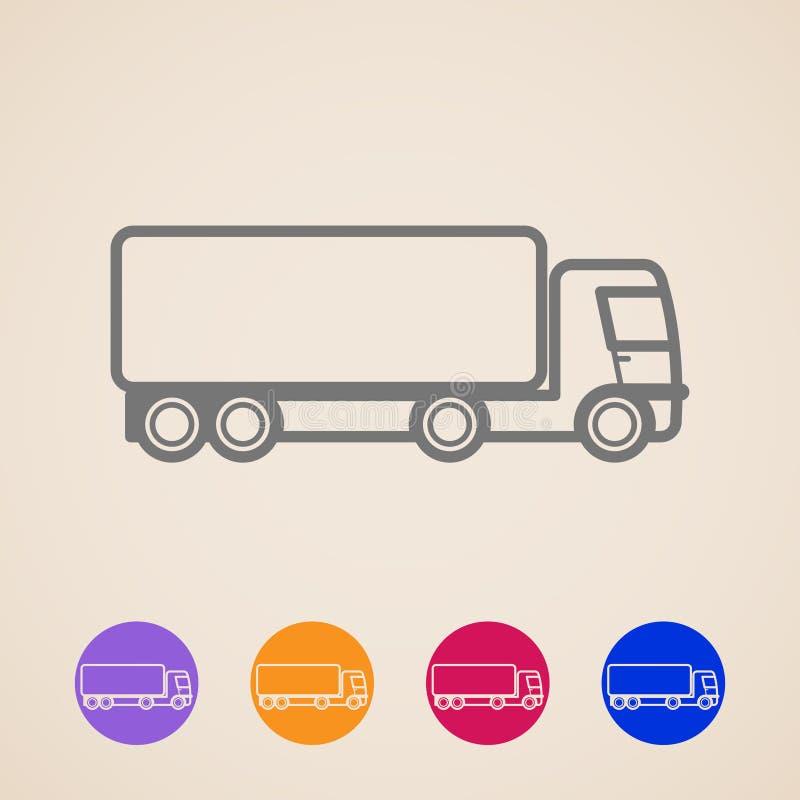 Icone del camion del carico illustrazione di stock