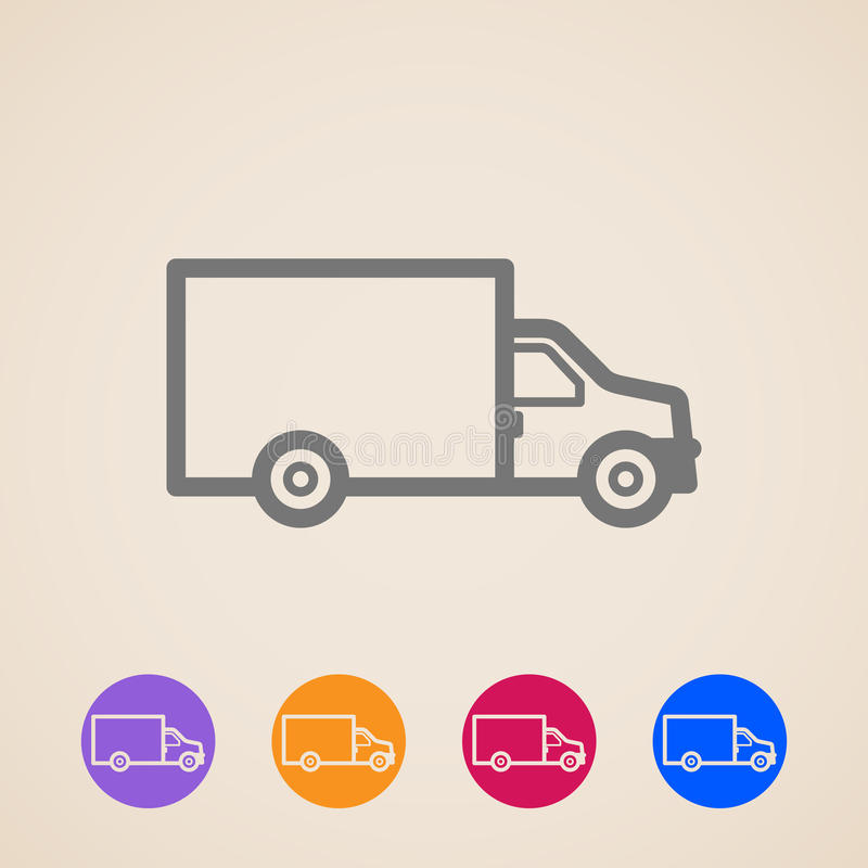 Icone del camion di consegna illustrazione vettoriale