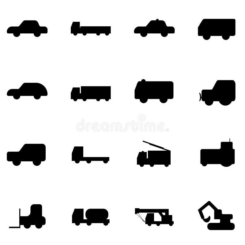 Icone del camion e dell'auto fotografia stock