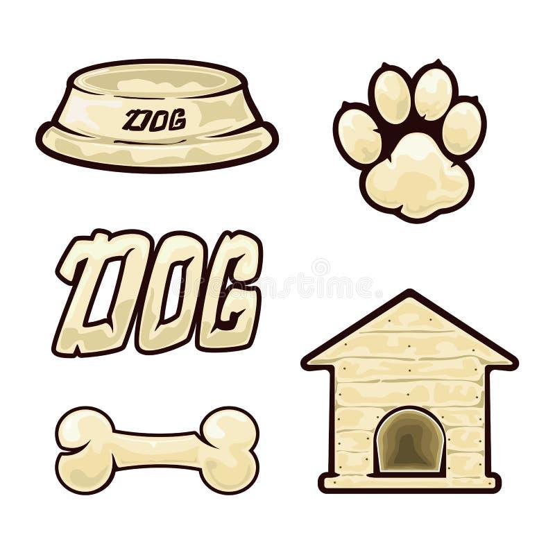 Icone del cane illustrazione vettoriale