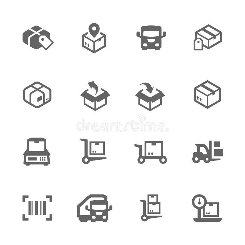 Icone del carico illustrazione di stock