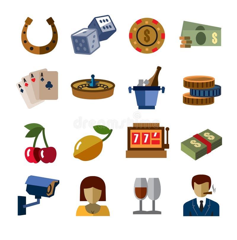 Icone del casinò illustrazione di stock