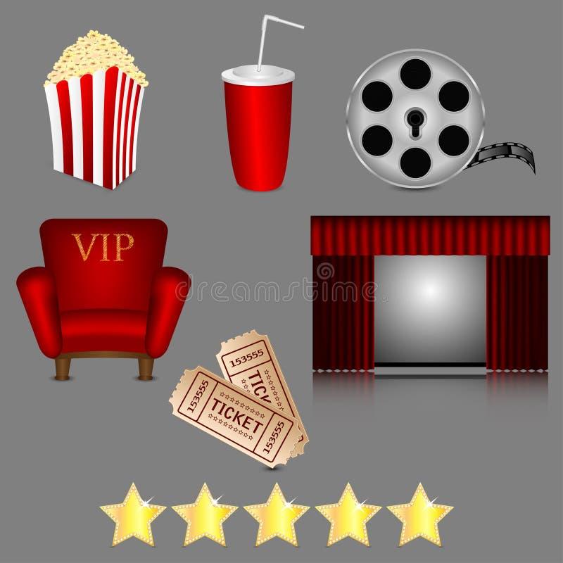 Icone del cinema illustrazione di stock