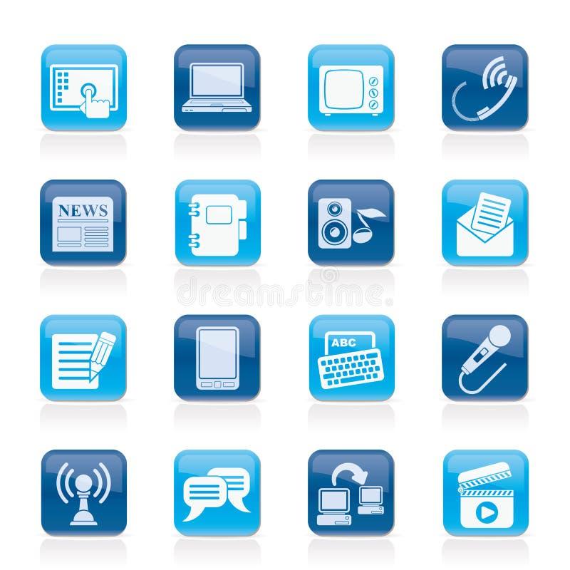 Icone del collegamento e di comunicazione royalty illustrazione gratis