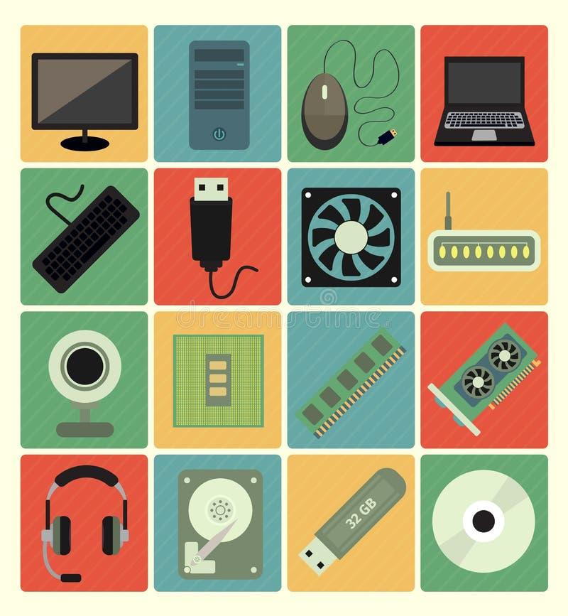 Icone del computer messe royalty illustrazione gratis