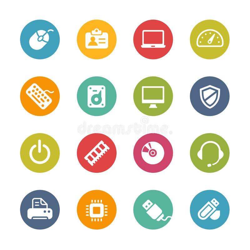 Icone del computer -- Serie fresca di colori illustrazione di stock