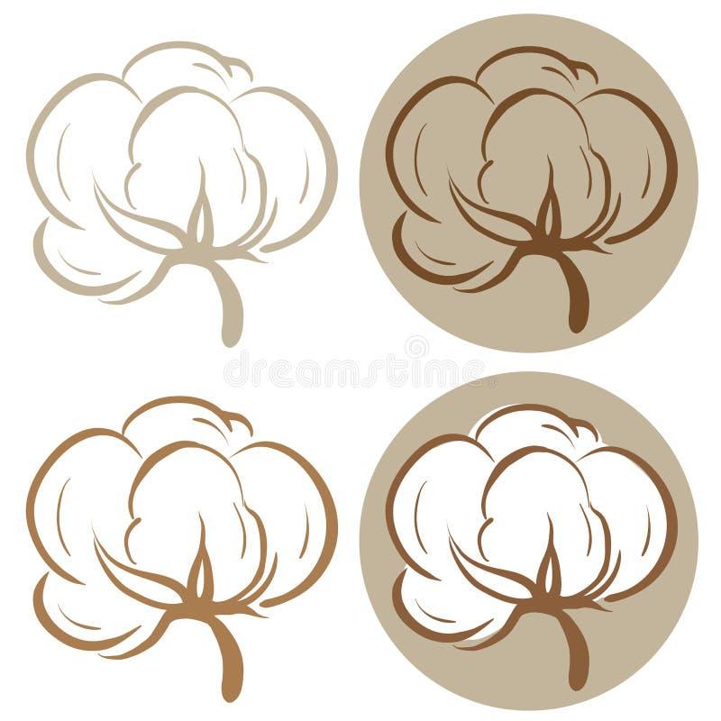Icone del cotone illustrazione vettoriale