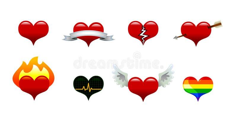 Icone del cuore royalty illustrazione gratis