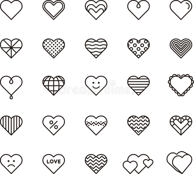 Icone del cuore royalty illustrazione gratis