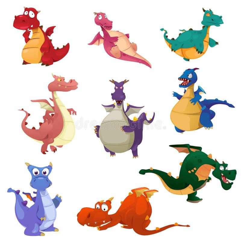 Icone del drago royalty illustrazione gratis