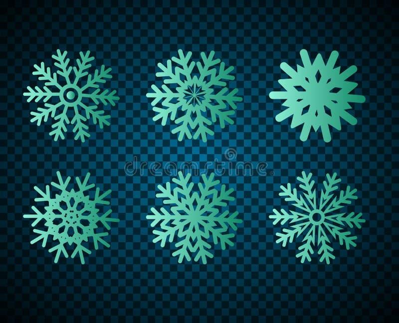 Icone del fiocco di neve royalty illustrazione gratis