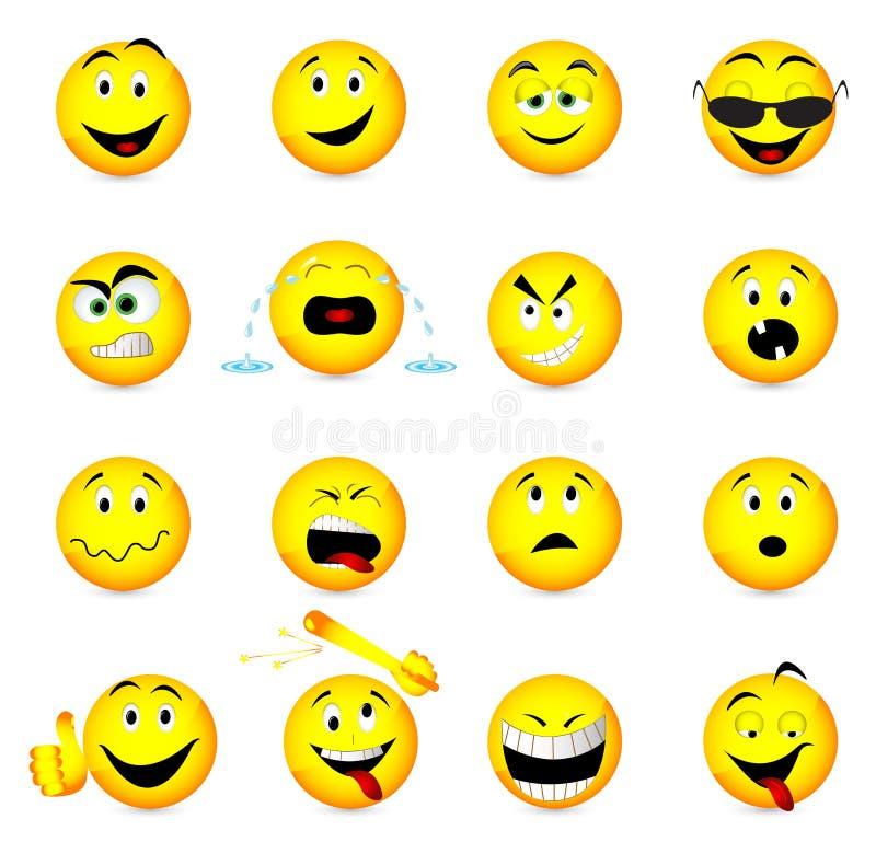Icone del fronte di sorriso. illustrazione di stock