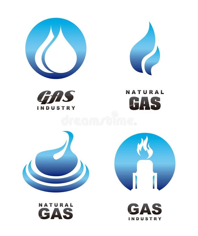 Icone del gas illustrazione di stock