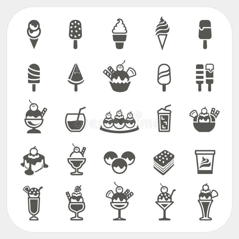 Icone del gelato messe royalty illustrazione gratis