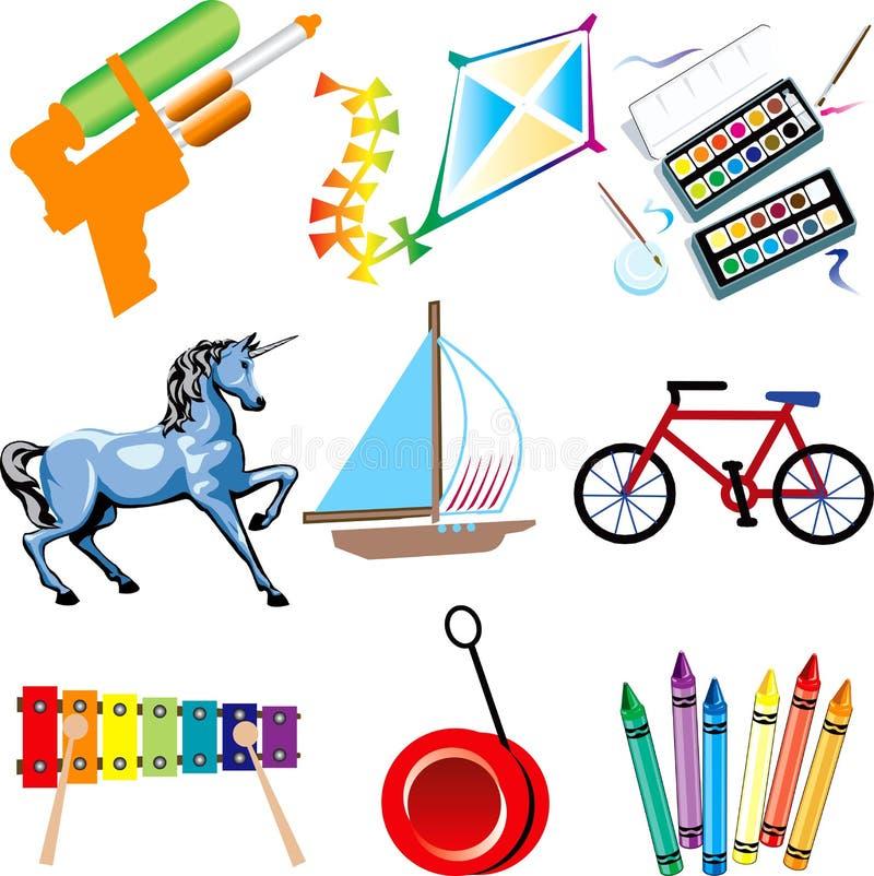 Icone del giocattolo illustrazione di stock