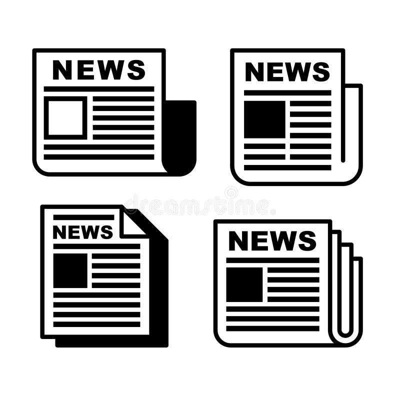 Icone del giornale messe illustrazione vettoriale