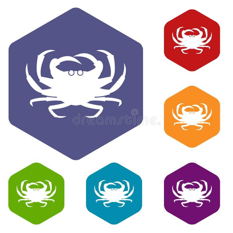 Download Icone del granchio messe illustrazione vettoriale. Illustrazione di squisito - 117979010