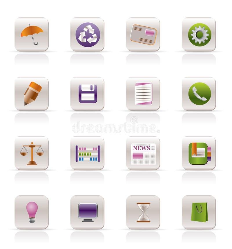 Icone del Internet dell'ufficio e di affari royalty illustrazione gratis