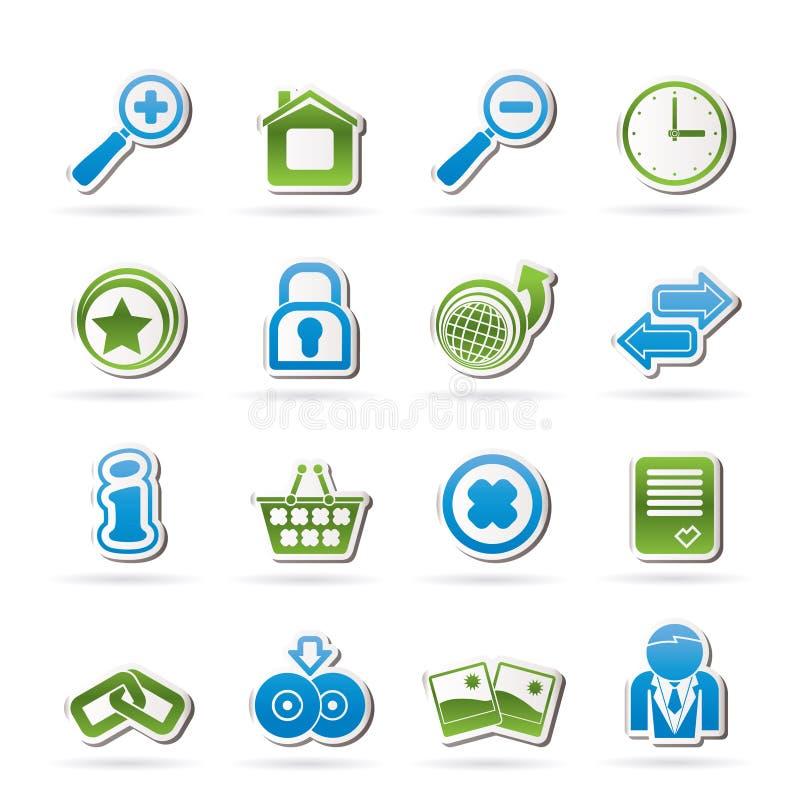 Icone del Internet e del Web site illustrazione vettoriale