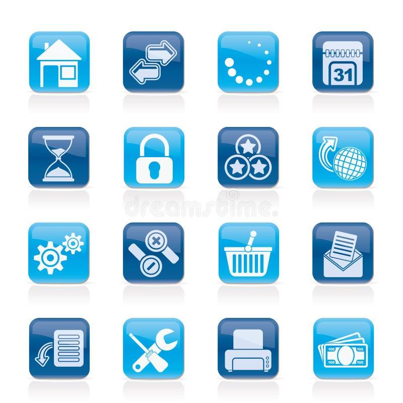Icone del Internet e del Web site illustrazione di stock