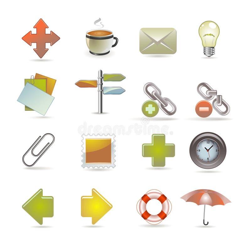 Icone del Internet e di Web illustrazione vettoriale