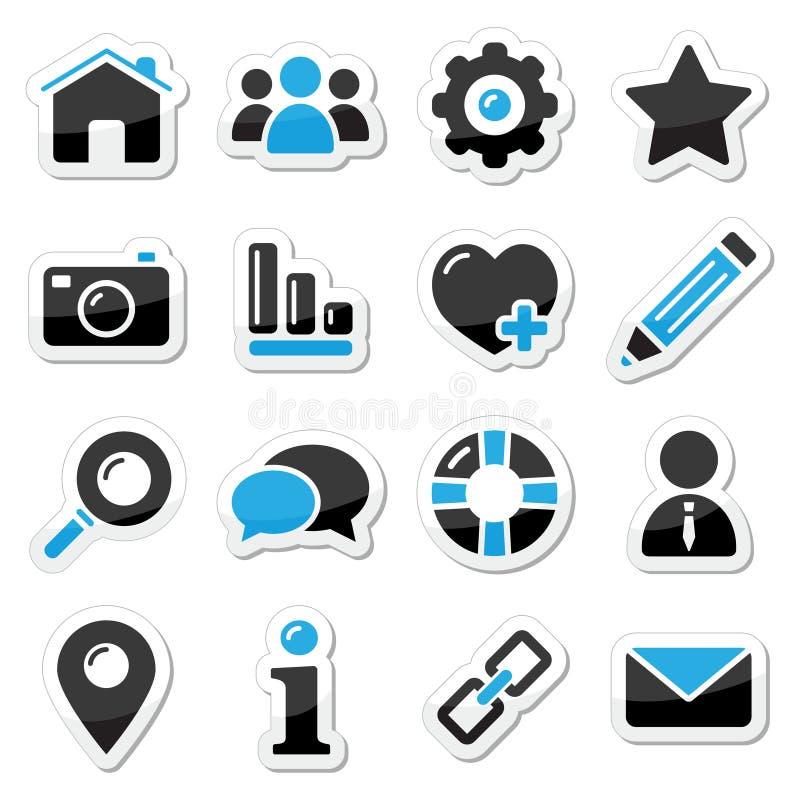 Icone del Internet e di Web impostate illustrazione di stock