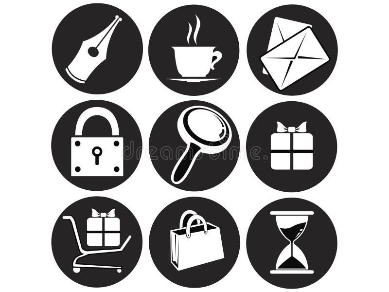 Icone del Internet e di Web site illustrazione vettoriale