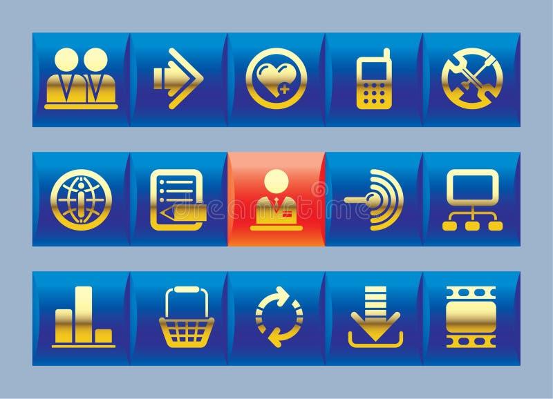 Icone del Internet e di Web site royalty illustrazione gratis