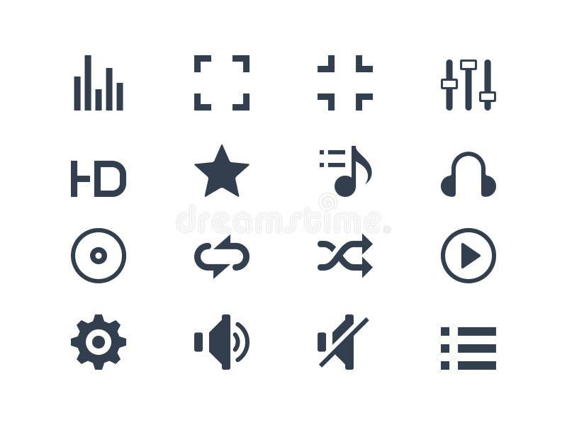Icone del lettore multimediale illustrazione di stock