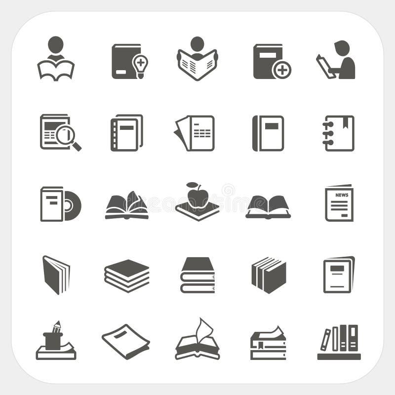 Icone del libro impostate illustrazione vettoriale