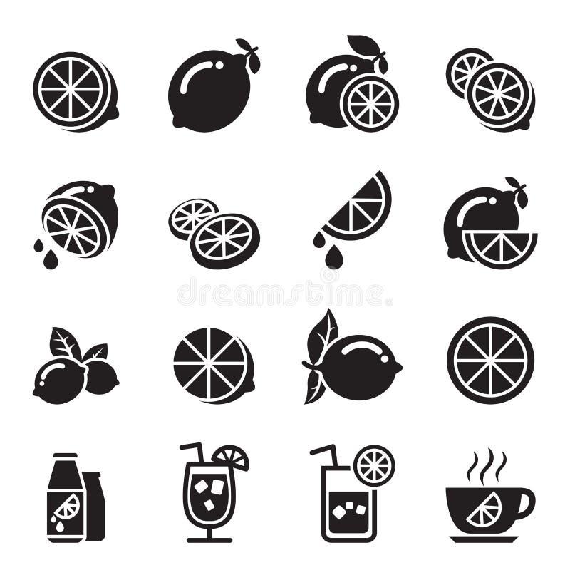 Icone del limone illustrazione vettoriale