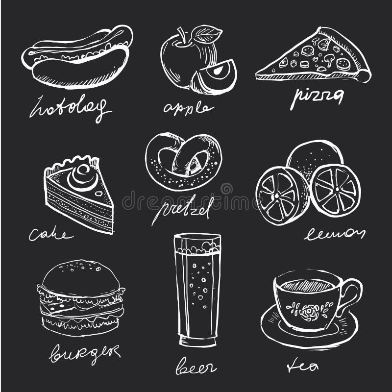 Icone del menu illustrazione di stock