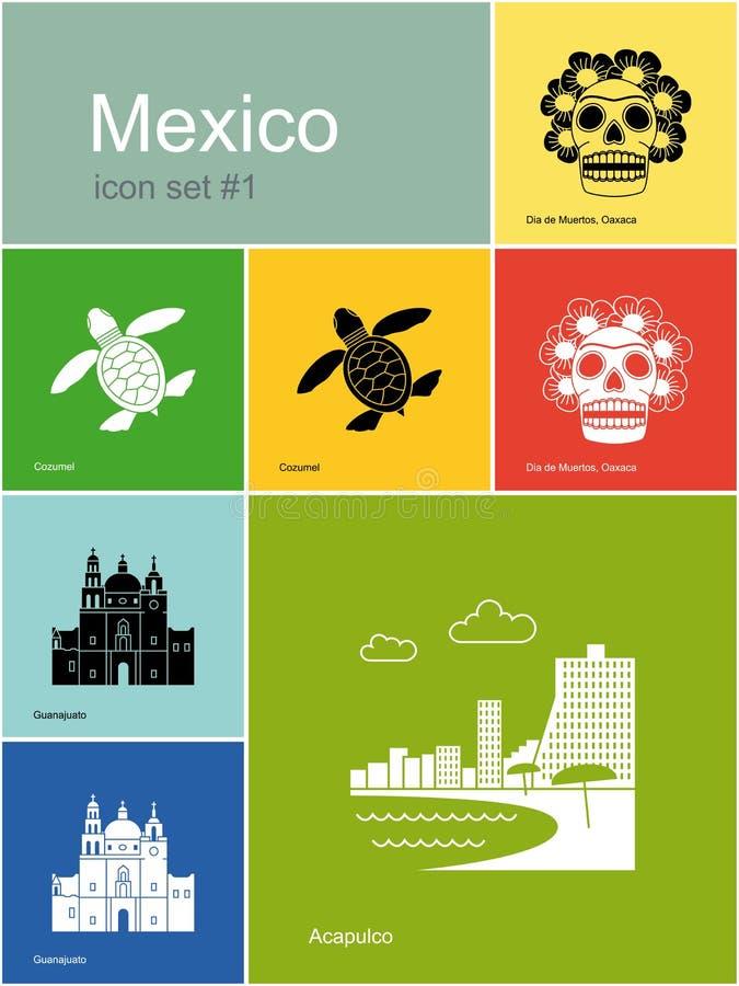 Icone del Messico royalty illustrazione gratis