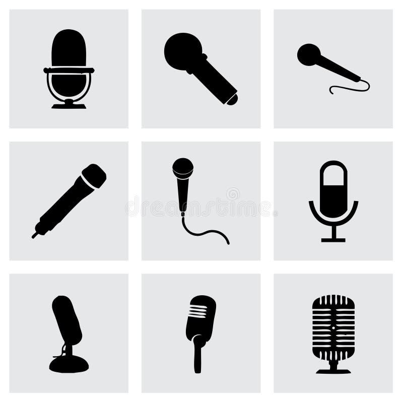 Icone del microfono di vettore messe illustrazione vettoriale