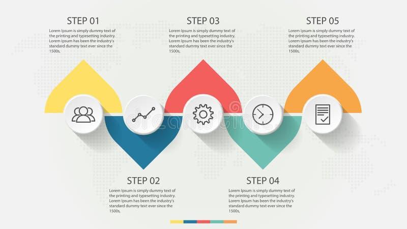 Icone del modello e di affari di progettazione di Infographic illustrazione vettoriale