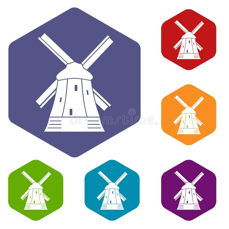 Download Icone del mulino messe illustrazione vettoriale. Illustrazione di oggetto - 117979063