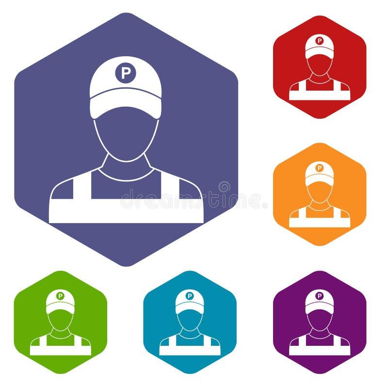 Download Icone Del Parcheggiatore Messe Illustrazione Vettoriale - Illustrazione di parco, icona: 117978910