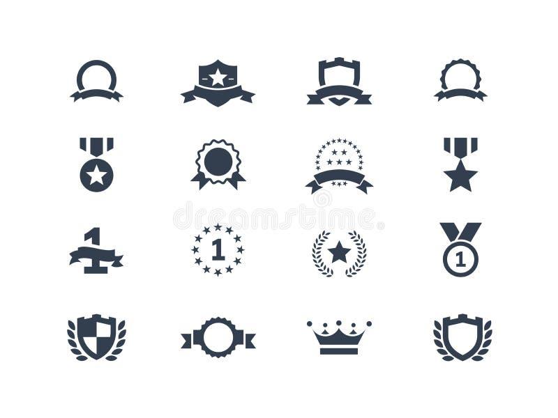 Icone del premio illustrazione di stock