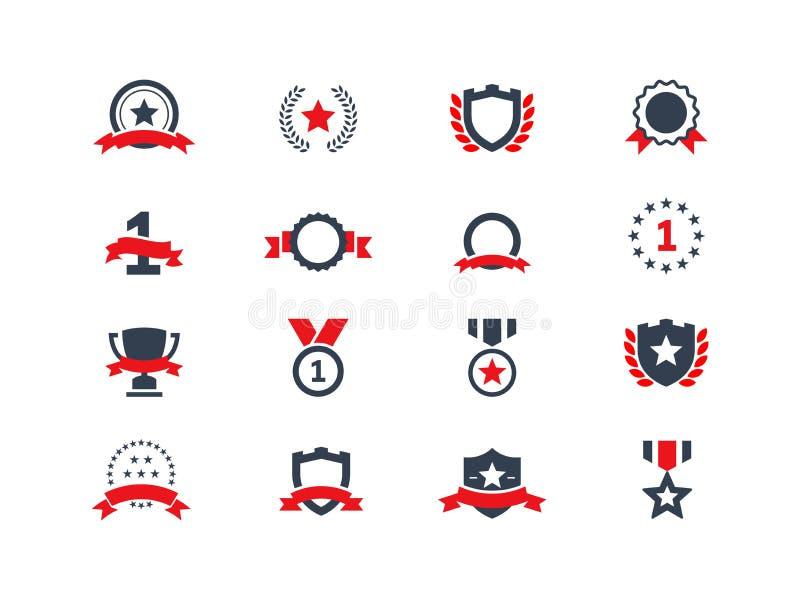 Icone del premio impostate illustrazione di stock