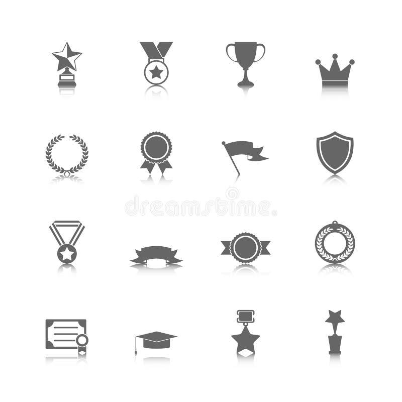 Icone del premio messe illustrazione vettoriale