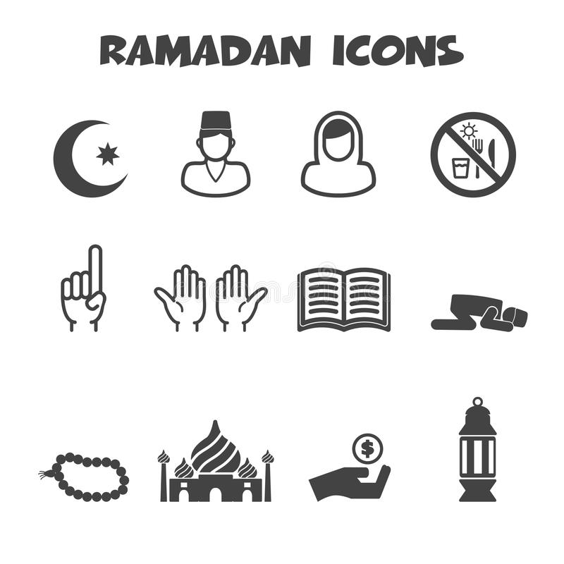 Icone del Ramadan illustrazione di stock