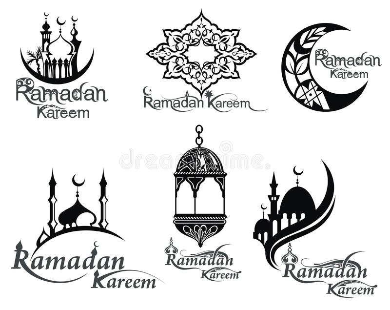 Icone del Ramadan messe royalty illustrazione gratis