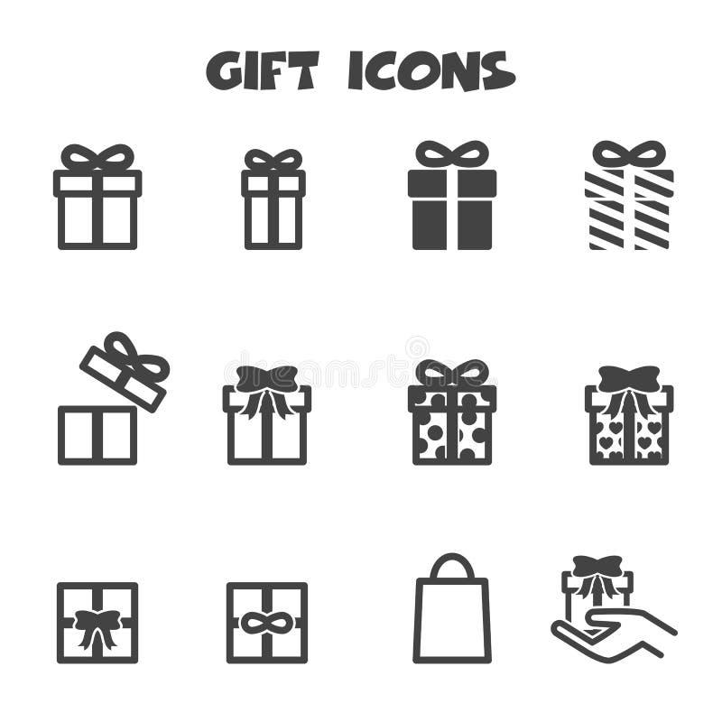 Icone del regalo royalty illustrazione gratis
