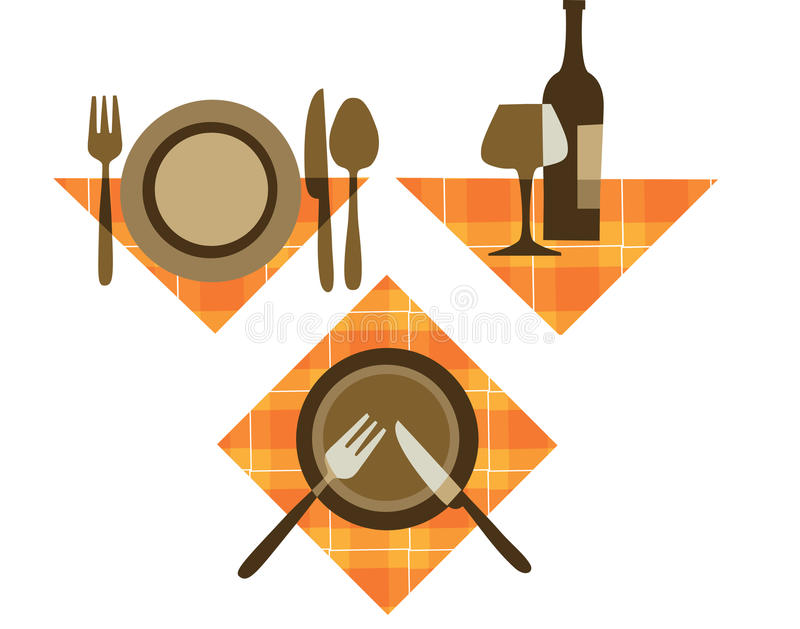 Icone del ristorante illustrazione vettoriale