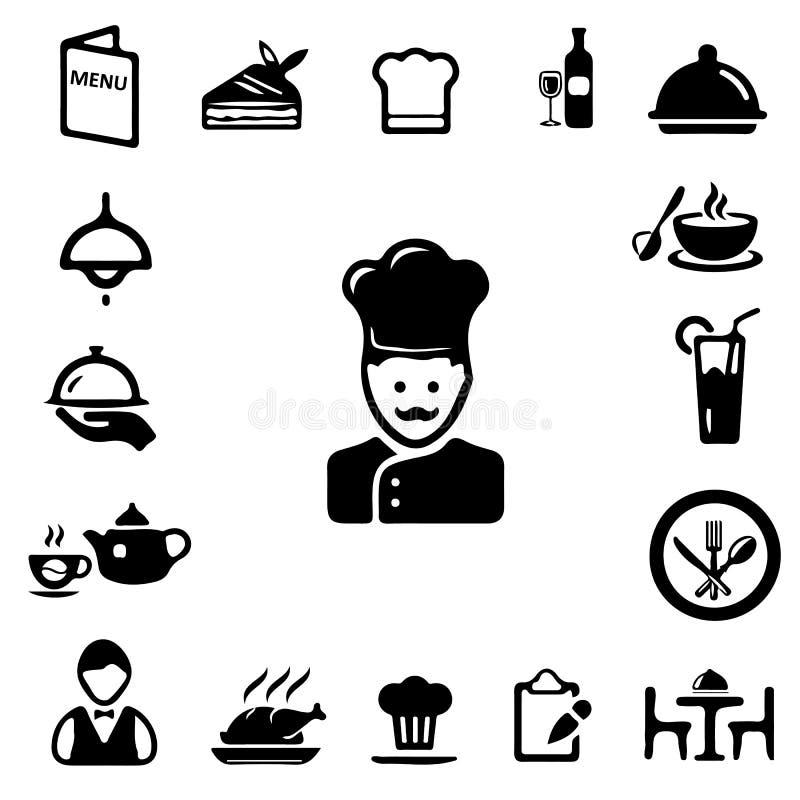 Icone del ristorante immagine stock