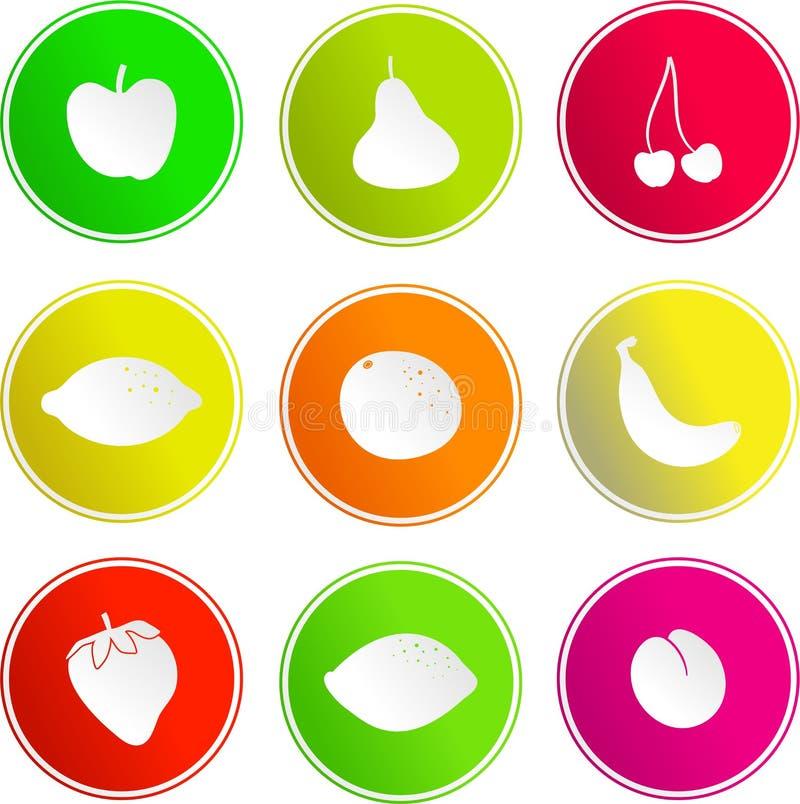 Icone del segno della frutta royalty illustrazione gratis
