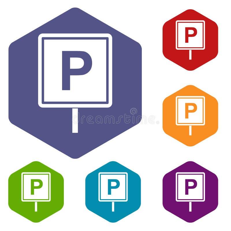 Download Icone Del Segno Di Parcheggio Messe Illustrazione Vettoriale - Illustrazione di fine, automobile: 117978925